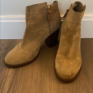 Tory Burch Tan Suede Booties